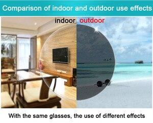 Image 2 - Myopie lunettes de soleil photochromiques, finition, monture, avec lentille de couleur, pour hommes et femmes, lunettes myopes 1.0  1.5