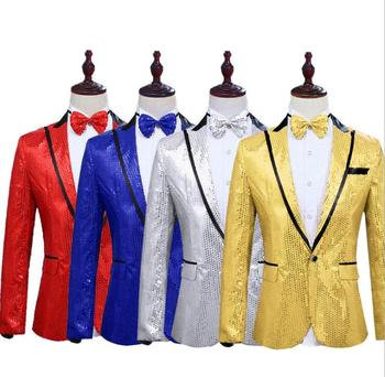 Gold silver sequins blazer men suits designs jacket mens stage costumes singers clothes dance star style dress masculino homme 4meters 4cm eco friendly sequins lace trims 3d gold silver lace ribbons for stage dance dress belt sewing accessories