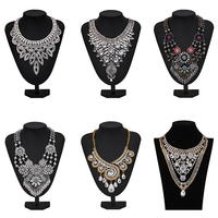 Factory Direct Sale BOHO Chunky Large Statement Crystal And Semiprecious Stone Necklaces In Assorted Designs