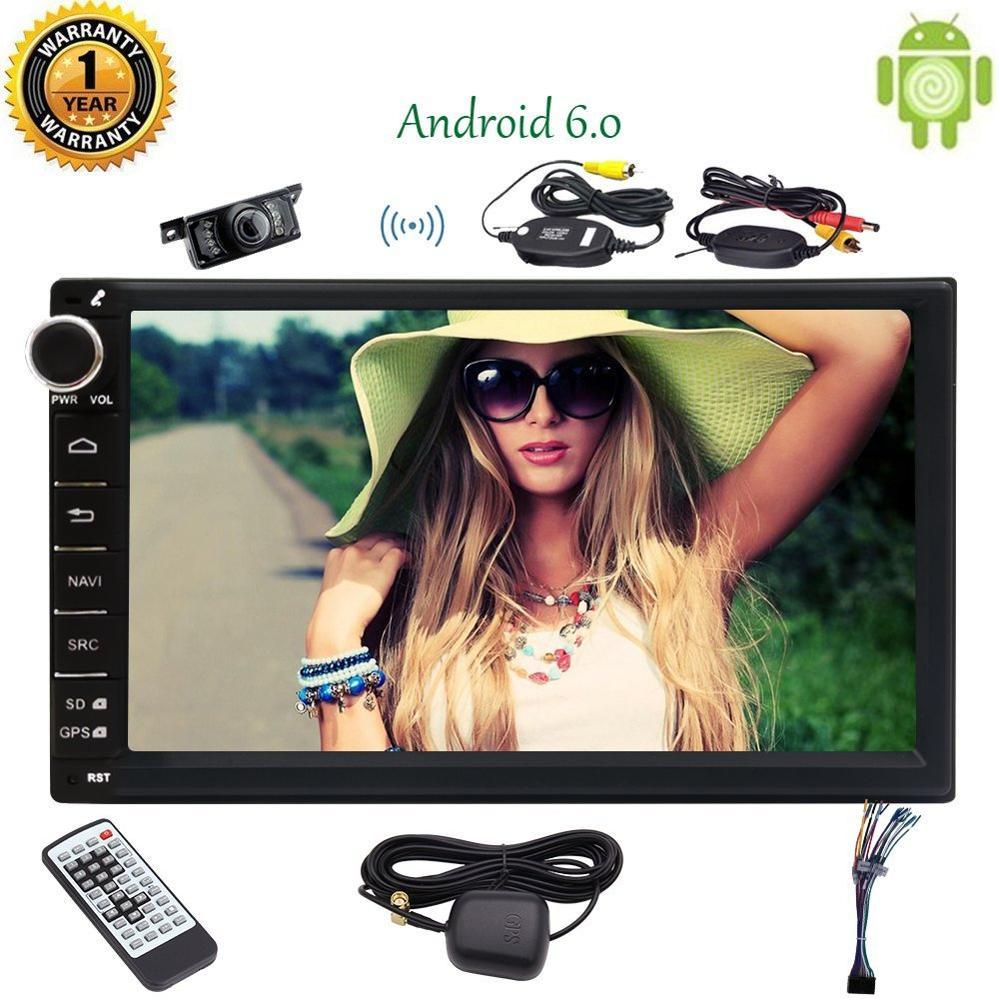 "Android 6.0 2 DIN стерео Bluetooth автомобиля Радио 7 ""Сенсорный экран автомагнитолы Поддержка fastboot зеркало сабвуфер WI-FI Bluetooth OBD2"