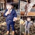 Дети комплект одежды мальчики одежда 2015 новых весна дети мальчики джентльмен костюм мода плед прохладный мальчиков устанавливает мальчиков пиджак