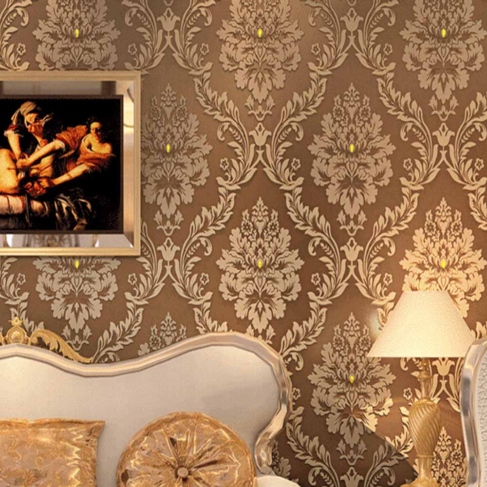 Wonderful gold wallpaper for walls for Wall papers for rooms