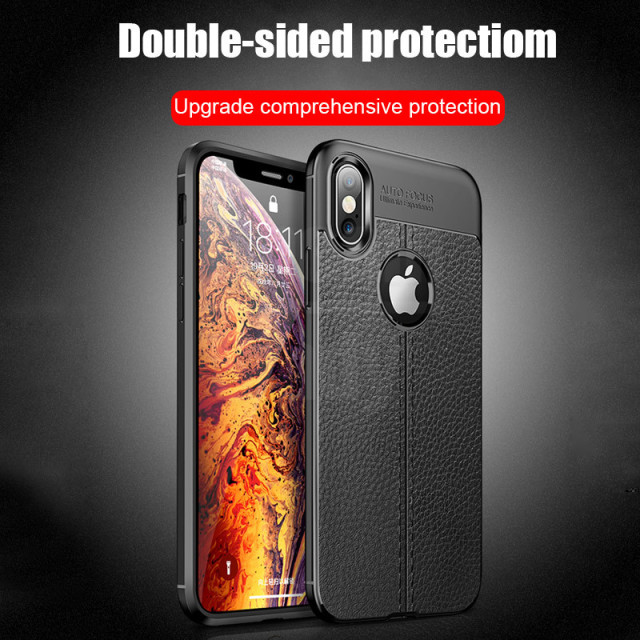 Luxury Leather PU Silicone Soft Case For iphone