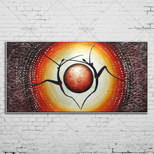 Free Shipping Artist Handmade sun of eye Oil Painting Modern Abstract For Living Room home Decoration wall painting