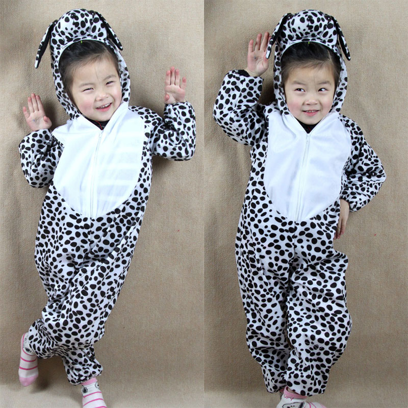 Umorden Barn Barn Baby Cartoon Animal Dalmatian Dog Costume Cosplay Jumpsuit Barnedag Halloween Kostymer