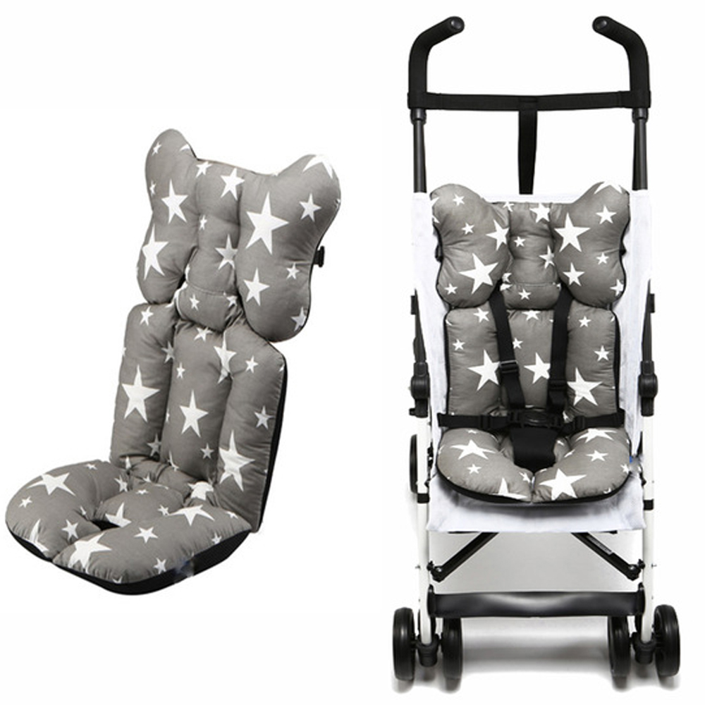 Fashion Printed Stroller Cushion Seat Cover Baby Diaper Pad Seat Pad Cotton Baby Stroller Mat Mattress Pram Stroller Accessories(China)
