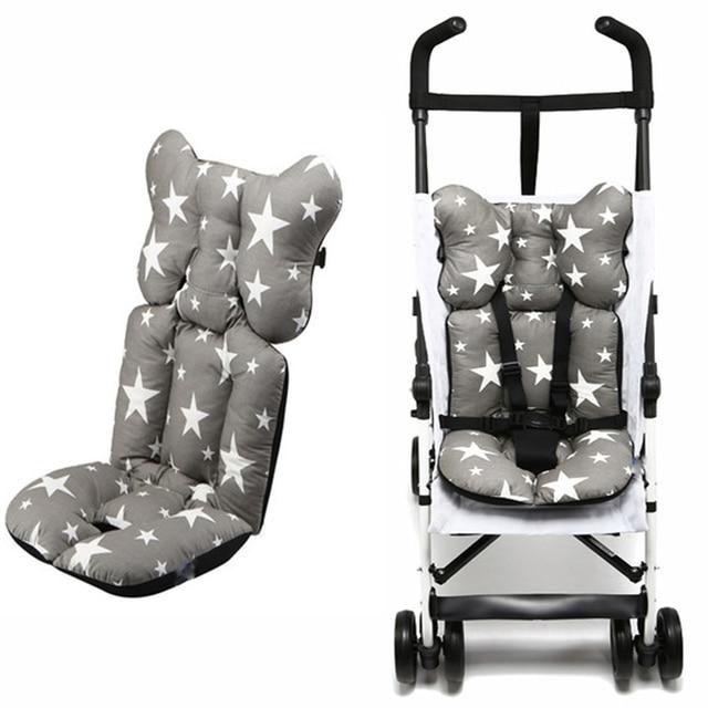 De moda impreso silla cojín del asiento cubierta del pañal del bebé, almohadilla asiento almohadilla de algodón bebé Mat colchón cochecito accesorios para cochecito