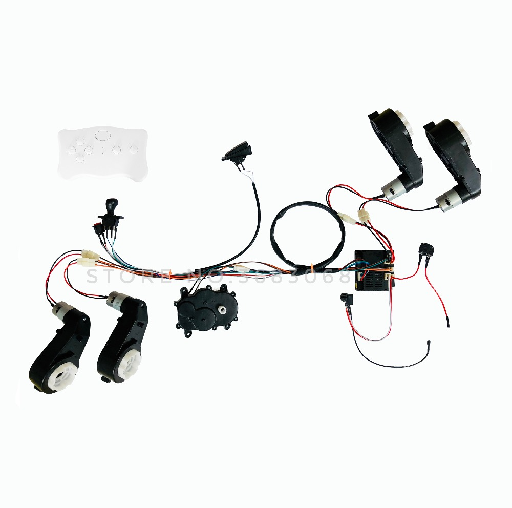 Kids Power Wheels 12V DIY Harness Transform Complete Set Of Remote Control Circuit Board Wires Switch, 4WD Electric Ride On