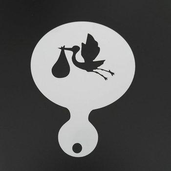 4 Uds de dibujos animados de animales set café estarcido de leche para capuchino con leche tarta artística de plástico Cookie herramientas accesorios de camarero