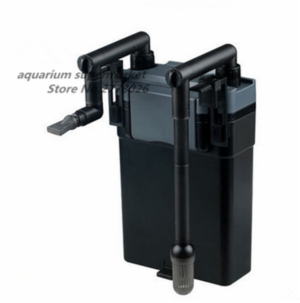 1 piece SUNSUN HBL 802 6W black easy to use wall mounted external filter for fish