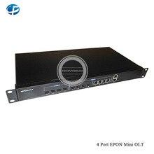 Высокое качество Мини 1G EPON OLT, 4 порта PON 4 шт. SFP модуль uplink ethernet порт сети EPON OLT, поддержка EPON ONU