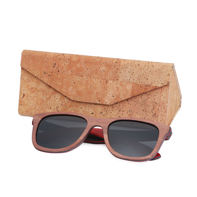 BerWer TOP brown Wooden Sunglasses Handmade Natural Skateboard Wooden Sunglasses Men Women Wooden polarized sunglasses