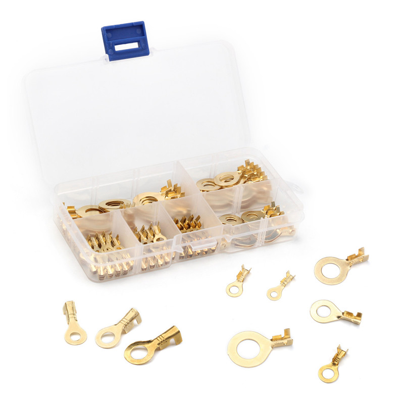 150PCS 3.2mm 4.2mm 5.2mm 6.2mm 8.2mm 10.2mm Ring Cable Lugs Ring Eyes Gold Golden Non-insulated Wire Cable Connectors Terminals150PCS 3.2mm 4.2mm 5.2mm 6.2mm 8.2mm 10.2mm Ring Cable Lugs Ring Eyes Gold Golden Non-insulated Wire Cable Connectors Terminals