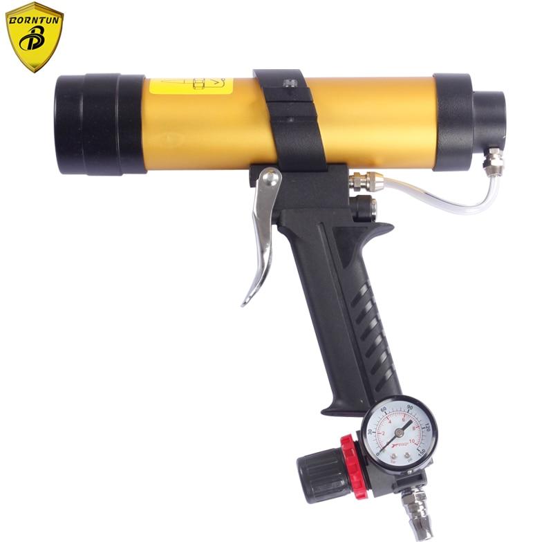 Borntun Air Glass Glue Gun Hard Pipe Speed Control Adjustable Glue Volumn 0.4Mpa Air Caulking Cartridge Spray Glass Glue Machine