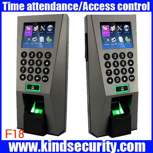 Biometric Building Management System ZK F18 Biometric Fingerprint Access Control and Time Attendence font b Security