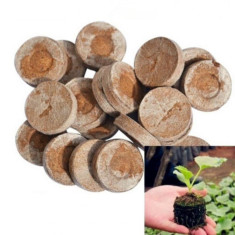 10/20/50Pcs Jiffy Peat Pellets Seed Starting Plugs Seeds Starter Pallet Seedling Soil Block Pro Garden Tools Easy To Use 30mm image