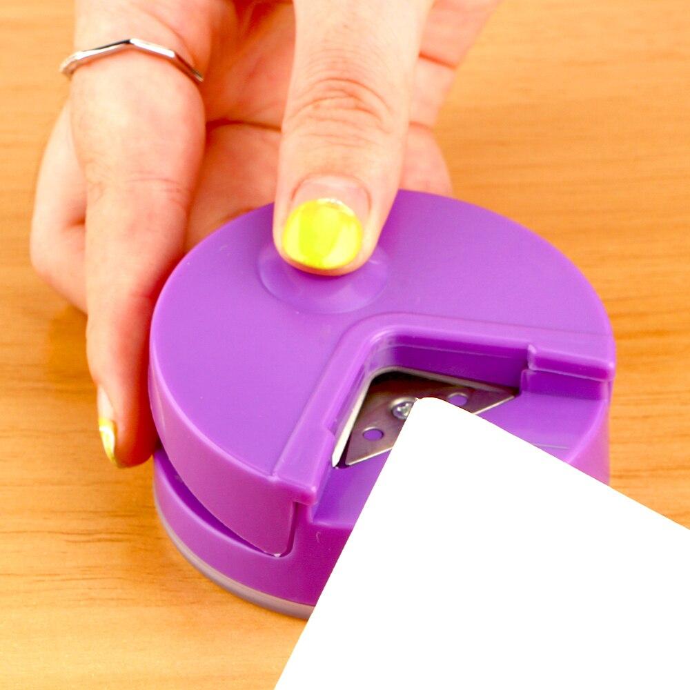 DIY Пластиковые R4 Угловые круглые 4 мм бумажные пробивные карты Фото Резак Случайный Цвет