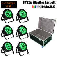 TIPTOP 18x18W LED RGBWA UV Silent Led Par Cans Quite Working DJ Club Disco For for KTV, Bar, Wedding, Festival 6IN1 Roadcase
