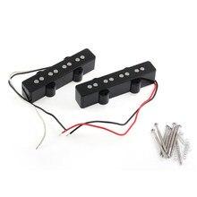 2 sztuk 4-ciąg cicha otwarty styl Pickup śruby sprężyny dla jazz bass zamiennik do gitary części czarny