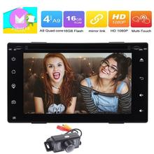"Backup Camera+Android 6.0 Car Stereo Radio 6.2 "" 2 Din Head Unit Bluetooth Autoradio Support GPS Navigation Mirrorlink WIFI 4G"