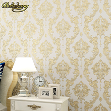 European Embossed embossed Luxury Wall paper Home Decor Background Damask Wallpaper roll Wallcovering WallPaper for Living Room