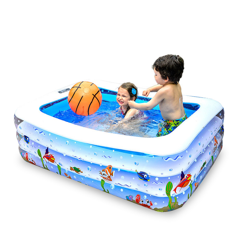 Three Size Choose Children's Home Use Inflatable Square Swiming Pool Outdoor Children Basin Bathtub Gifts for Babies бассейн для детей inflatable pool 2015 96 65 28 swiming pool