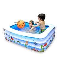 Three Size Choose Children's Home Use Inflatable Square Swiming Pool Outdoor Children Basin Bathtub Gifts for Babies