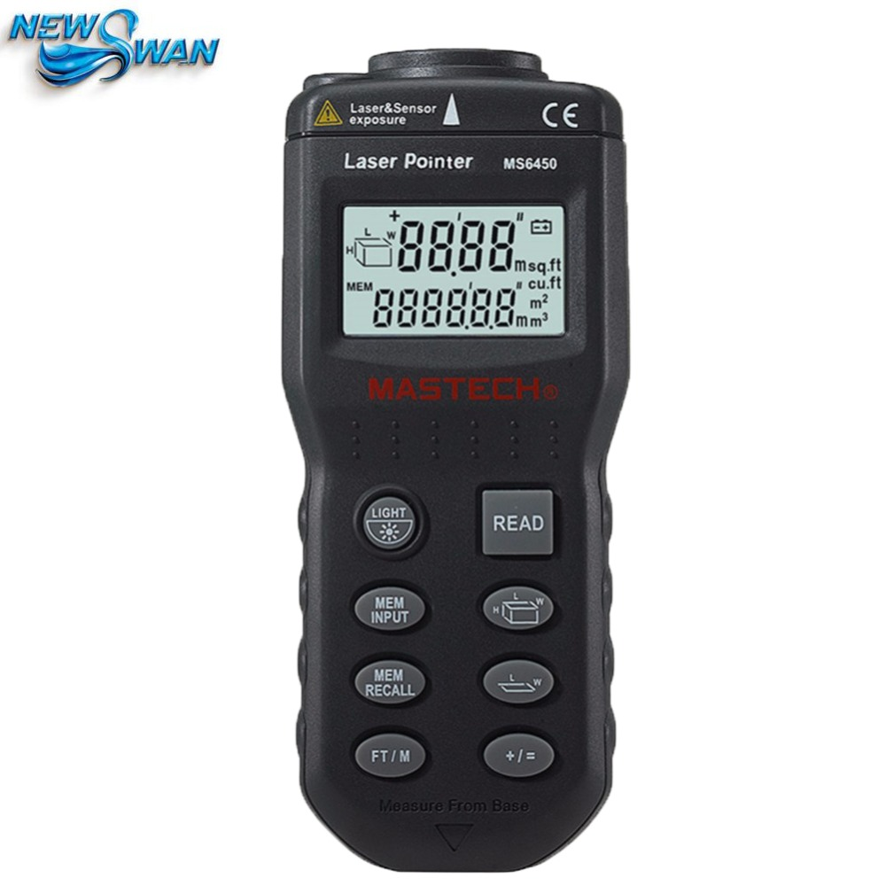 MS6450 Ultrasonic Range Finder Laser Distance Meter Length Area Volume Measurer  цены