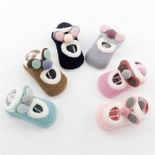 0-4 Years Spring Autumn Baby Foot Socks Coral Fleece Cute Sokken Cartoon Meias Soft Animal Patten Baby Boy Socks Baby Girl Socks