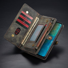 Phone Cover Coque for Huawei Mate 20 P20 P30 Pro Lite Case Fundas Luxury PU Leather Zipper Wallet Card Magnetic TPU Back Cover(China)