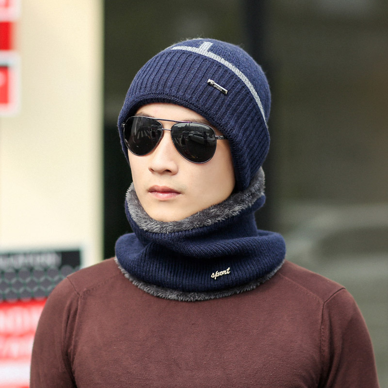 Neck warmer winter hat mask cap Balaclava scarf cap Winter wool Hats For men knitted hat womena   Beanie   Knit Hat   Skullies     Beanies