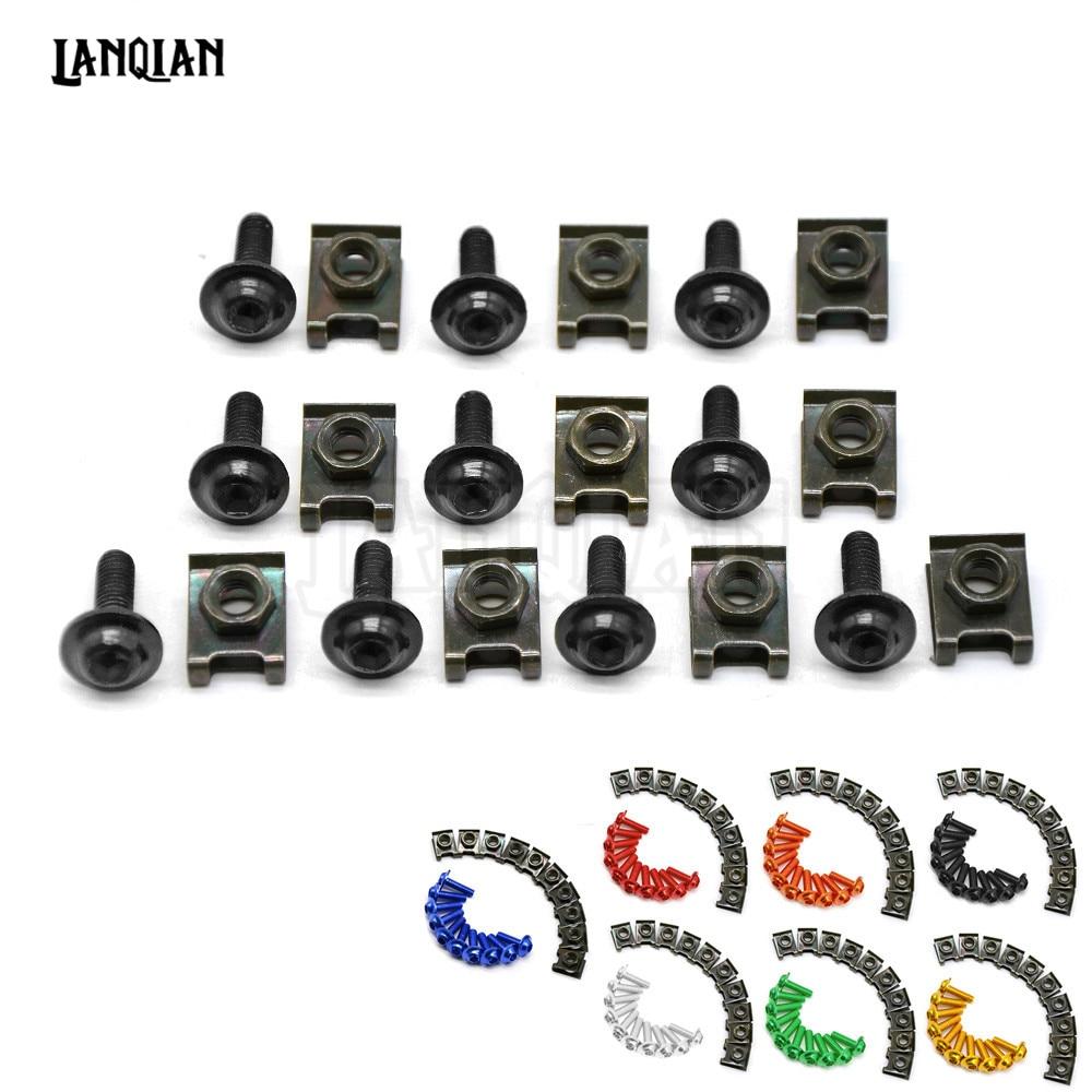 6mm motorbike body work fairing bolts screwse For yamaha r15 jog xjr 1300 yz 125 125cc yz 250 ducati monster 600 monster 1100