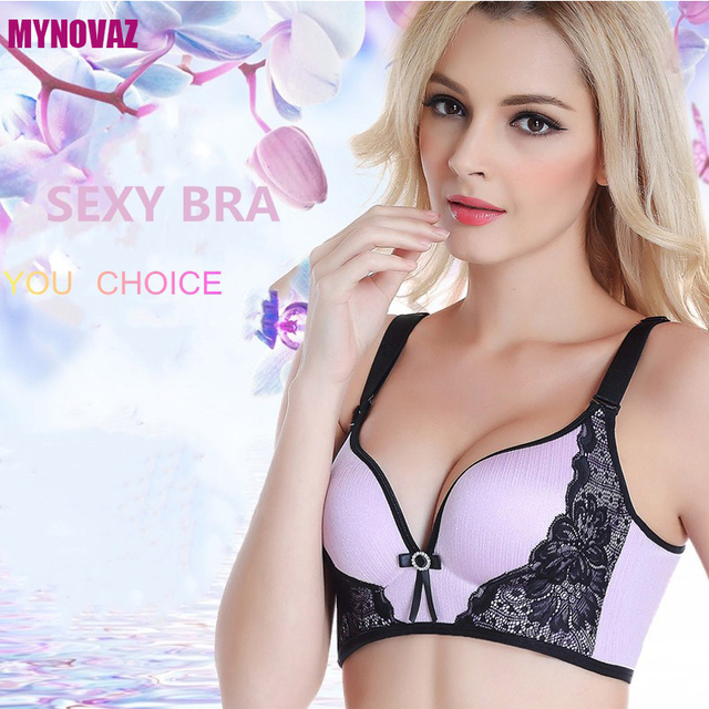 480b23eec4fa9 MYNOVAZ Women Sexy Underwire Unpadded Embroidery Lace Bra purple pink blue  Bralette Push Up Bras Size ABC Cup Seamless Lingerie