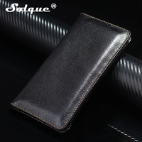 Real Genuine Leather Phone Pouch Case For IPhone 7 Plus 6 6S Plus Luxury Purse Wallet