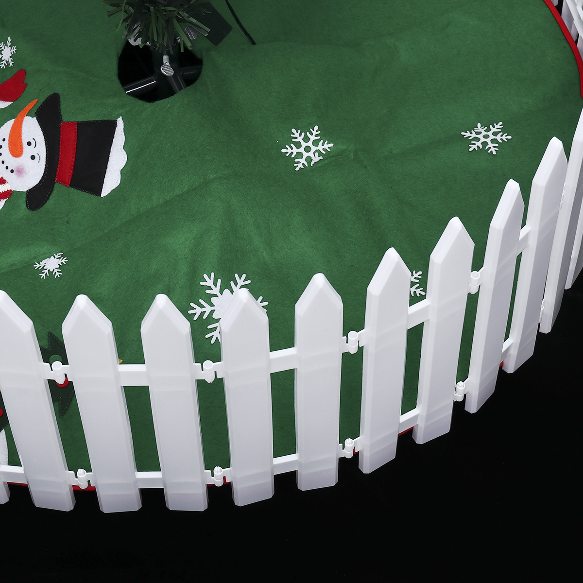 25 Pieces Tinksky White Plastic Picket Fence Miniature Home Garden Christmas Xmas Tree Wedding Party Decoration