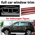 Автомобильный Стайлинг  декоративные полосы для отделки всего окна для V-olkswagen Tiguan из нержавеющей стали с колонной  внешние аксессуары для а...