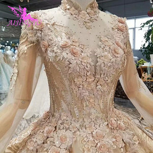 Image 2 - AIJINGYU Womens Wedding Dresses Robe Size Plus Lace Marvel Beads Ready Made Vintage Country Gown Wedding Gowns