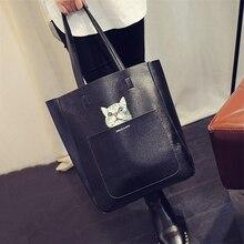 Большая женская сумка, сумка на плечо, модная сумка с изображением кота, посылка, сумка-мессенджер
