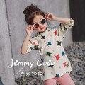 Niños del algodón T-shirt 2017 primavera nuevas chicas de ocio camisa de la base Estrella larga sección suéter envío gratis