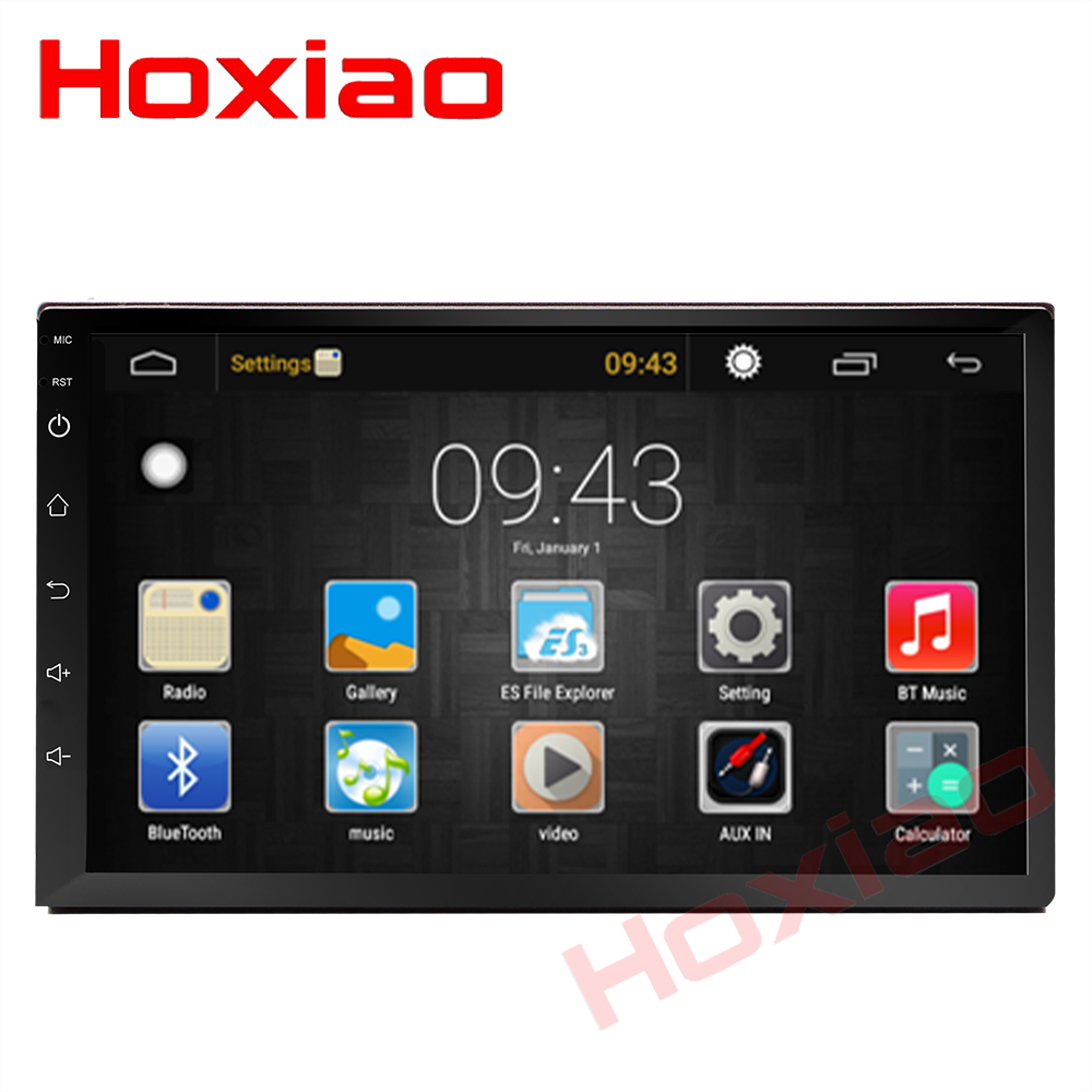 2 Din Car  Android 6.0 Gps Navigation Bluetooth For Nissan Vw Toyota Peugeot  Wifi Multi-media 7 Inch Car Radios Player