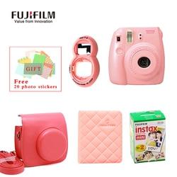 Fujifilm Fuji Instax Mini 8 Instant Film Photo Camera + Mini 8 Bag + Lens + 20 Sheets Film + 36 Pockets Photo Case Free Shipping