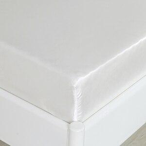 Image 5 - ソフトサテンシルクシーツ枕カバー寝具セットアメリカスタイル 3/4 本のベッドリネンツインフルクイーンサイズ寝具セット
