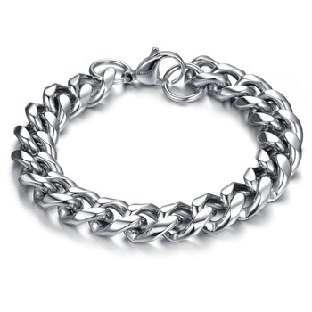 Solid Stainless Steel Thick Chunky Chain Bracelet For Man Top Grade Fashion Men Jewelry PulseiraPulsera GS712