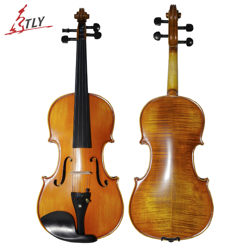 TONGLING Brand Matt 4/4 Violin Natural Stripes Maple Master Hand-craft Antique Professional Violin Musical Instrument+ Bow Rosin violins professional string instruments violin 4 4 natural stripes maple violon master hand craft violino with case bow rosin