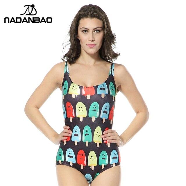80ae328f6b New New Design Beach Wear Ice lolly Pattern Digital Printed Bathing Suit  Women Swimwear One Piece Swimsuit CYQ1041