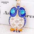 the United States Crystal Drops of oil - grade owl car key ring chain lady small gift pendant merchandise wholesale