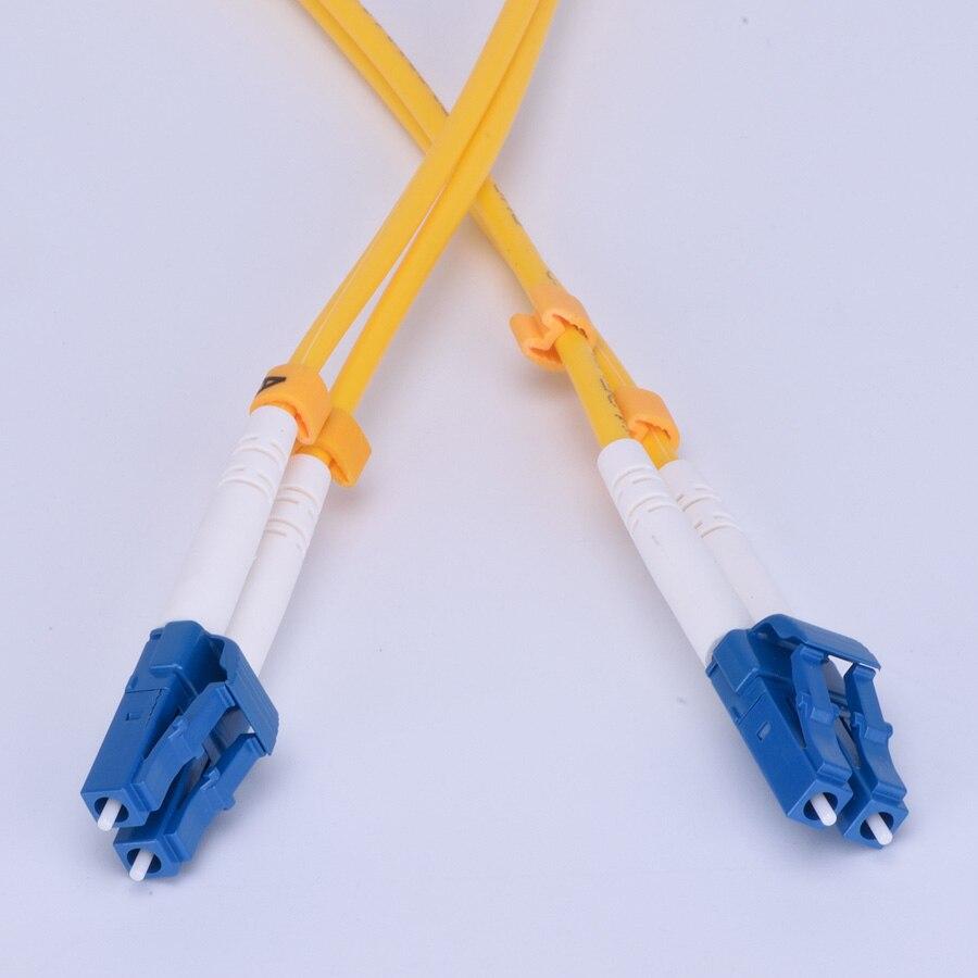 50 м LC-LC дуплекс, волоконно-оптический кабель патч-корд, LC к LC, одномодовый