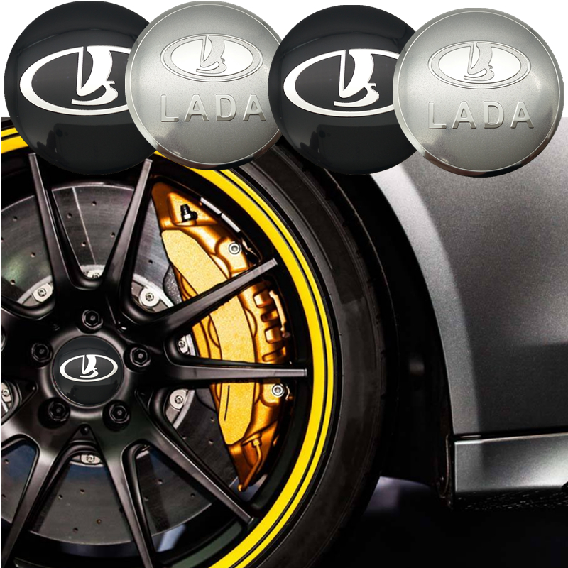 YONGXUN 4ps 56.5mm FOR LADA logo car emblem Wheel Center Hub sticker Rim badge covers Aluminum sticker Car styling Accessories auto chrome camaro letters for 1968 1969 camaro emblem badge sticker