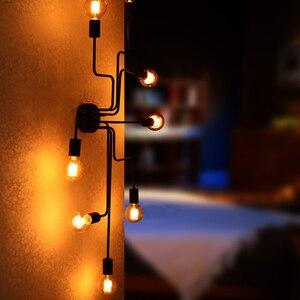 Image 3 - Moderne Eetkamer Plafondlampen Zwart E27 Luminaria De Teto Verlichtingsarmaturen Keuken Slaapkamer Industriële Vintage Living Lamp