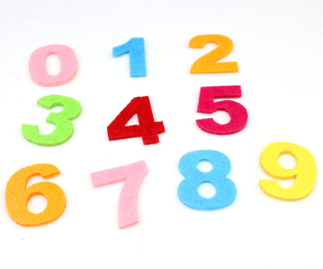 800pcs Felt Number Die Cut Set 32mm Tall Great For Learning Advent